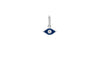 Diamond & Navy Enamel Evil Eye Necklace Charm