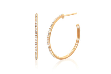 Half Diamond Essential Hoop Earring