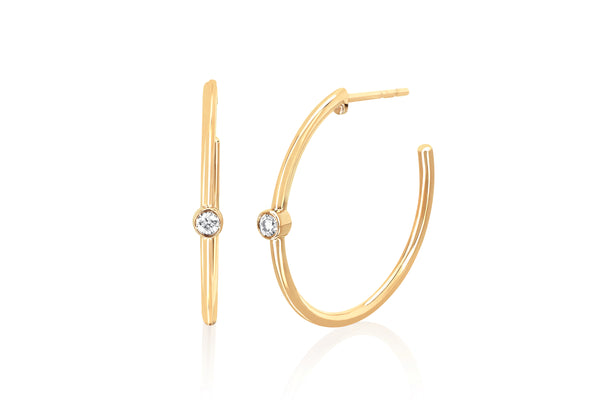 Diamond Bezel Essential Hoop