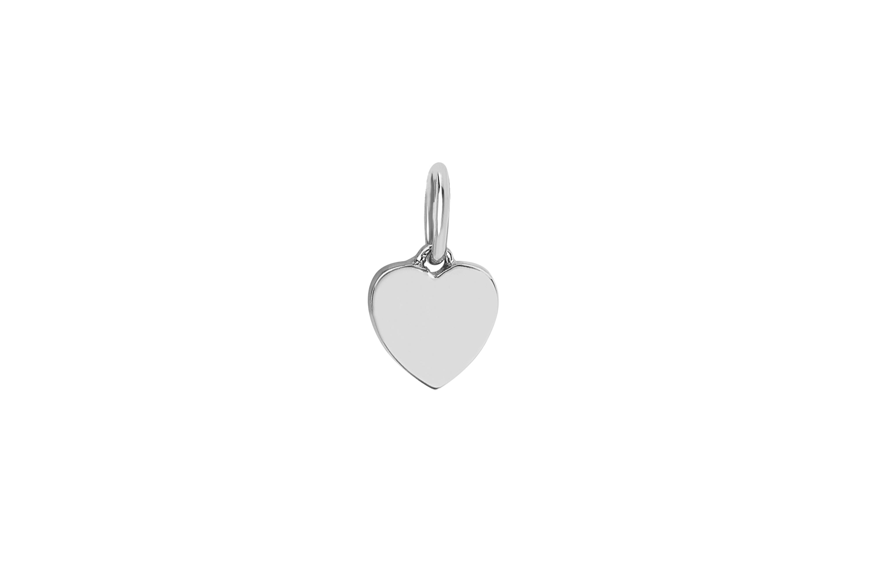 Gold Heart Necklace Charm