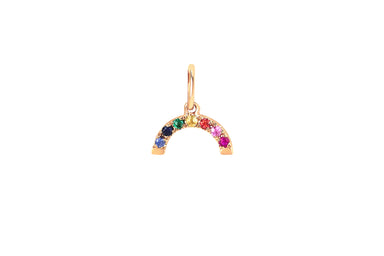 Rainbow Necklace Charm