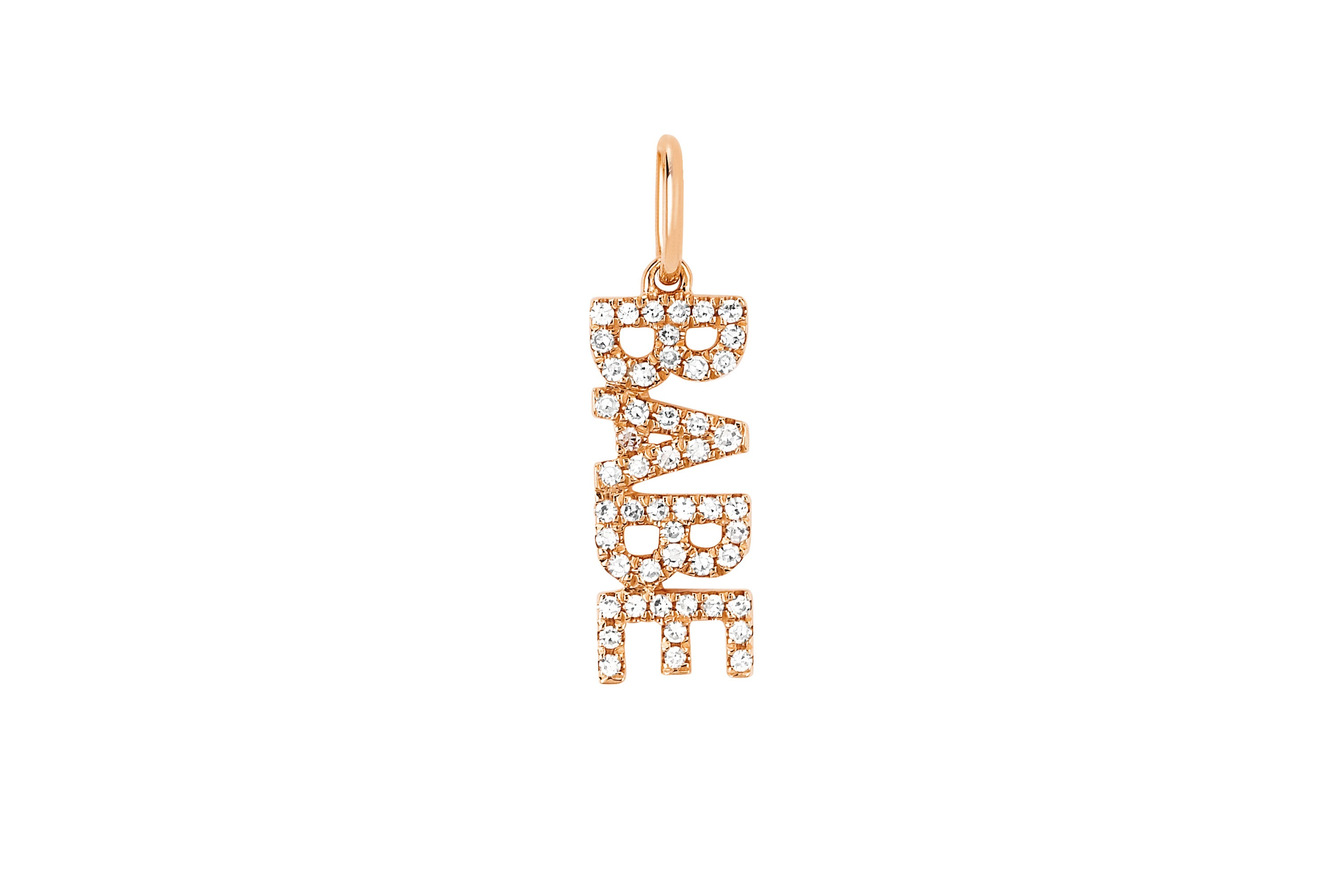 Diamond Babe Necklace Charm