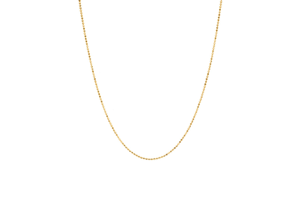 Gold Faceted Ball Chain