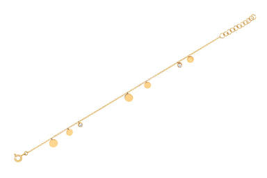 Gold & Diamond Confetti Anklet