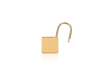 Single Gold Lock Earring