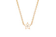Diamond & White Enamel Star Necklace