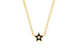 Diamond & Black Enamel Star Necklace