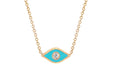 Diamond & Turquoise Enamel Evil Eye Necklace