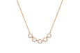 5 Diamond Open Circle Choker Necklace