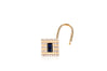 Single Diamond & Blue Sapphire Lock Earring