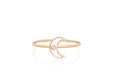 Diamond & White Enamel Moon Stack Ring