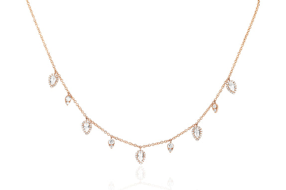 Diamond & White Topaz Ultimate Teardrop Necklace