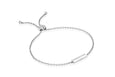 Diamond & White Enamel Bar Friendship Bracelet