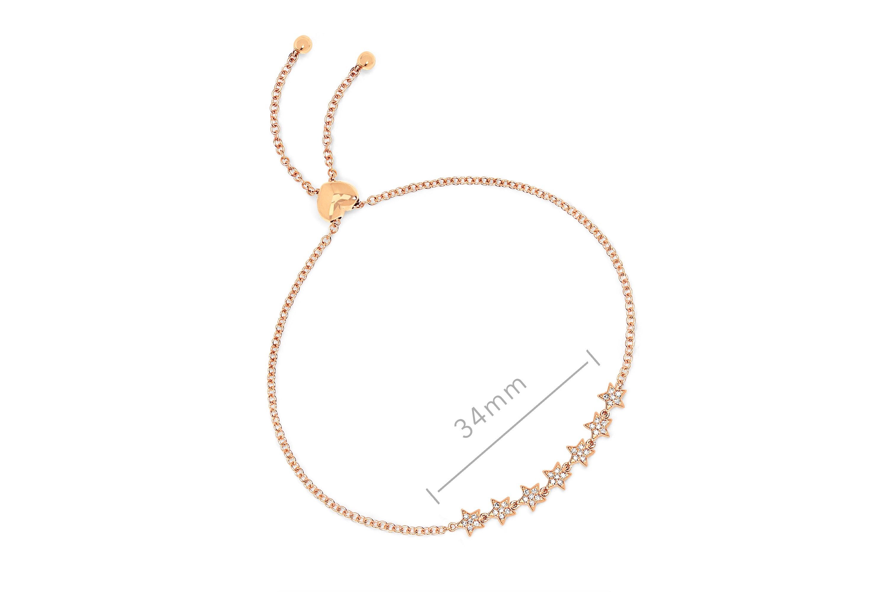 7 Diamond Mini Star Bolo Bracelet