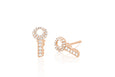 Single Diamond Key Stud Earring