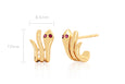 Gold Snake Earring With Ruby Eyes