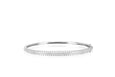 Diamond Double Row Round Bangle Bracelet