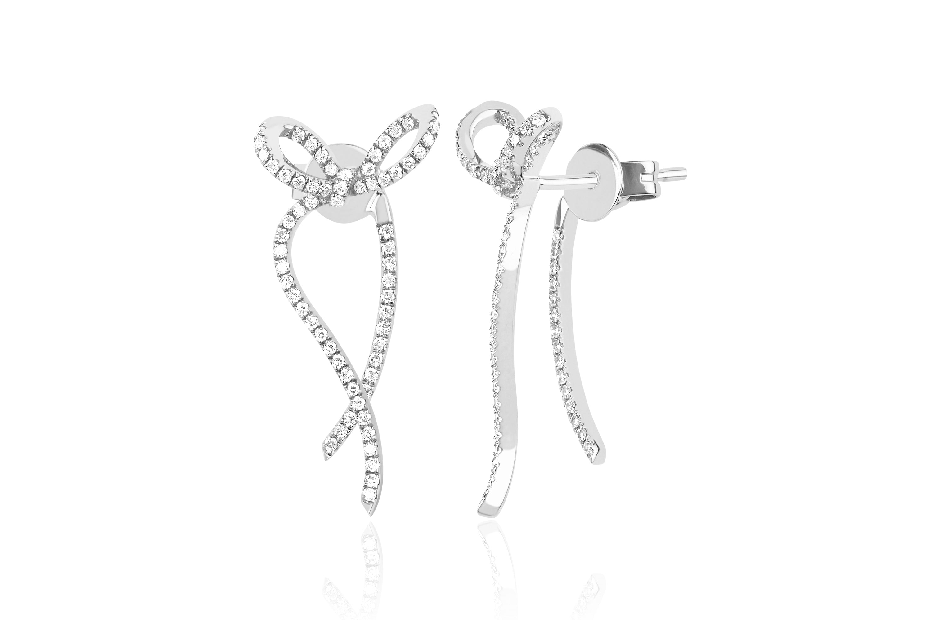 Diamond Bow Earring