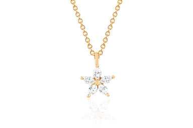 Diamond Marquise Flower Choker Necklace