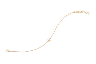 Diamond Marquise Flower Chain Bracelet