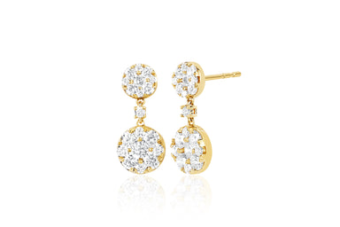 Full Cut Diamond Disc Earring