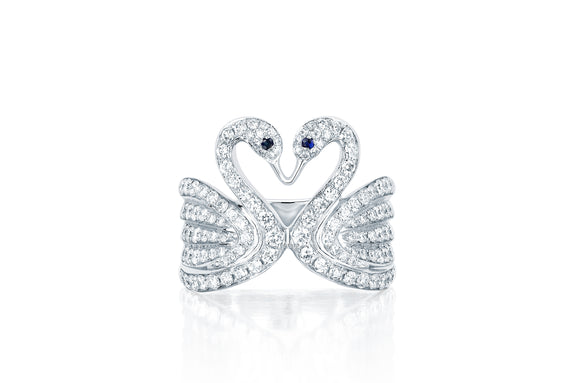 Diamond Swan Ring