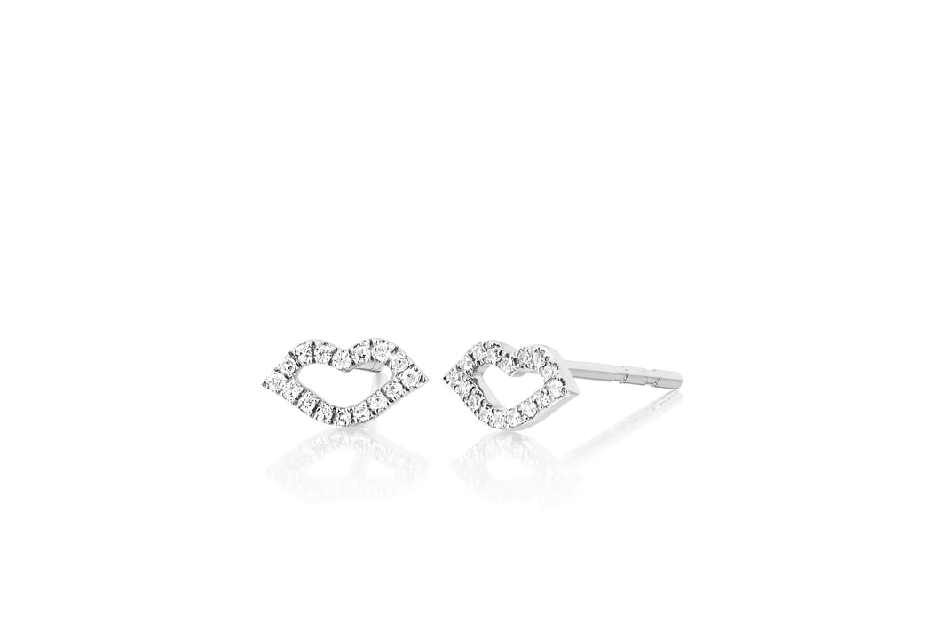 Diamond Kiss Stud Earring