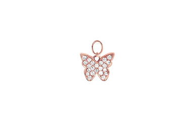 Diamond Butterfly Huggie Charm