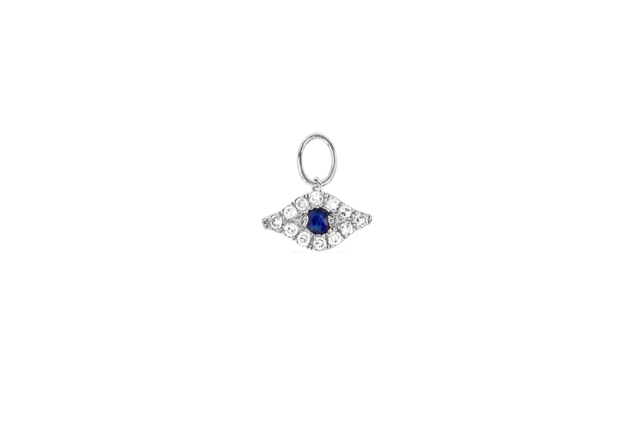 Diamond Evil Eye Huggie Charm