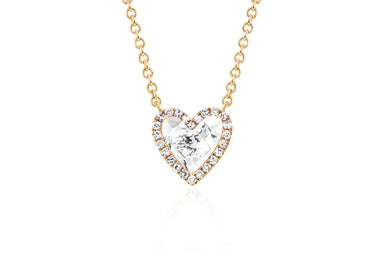 Diamond & White Topaz Heart Necklace