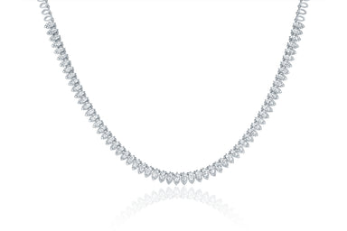 Diamond Pretty Lady Eternity Necklace