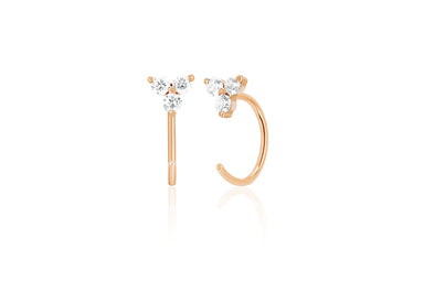 Diamond Trio Loop Earring