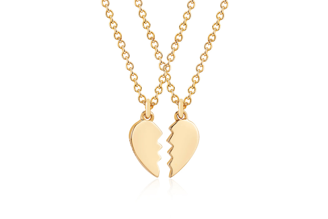 Gold Mini Heart Friendship Necklace