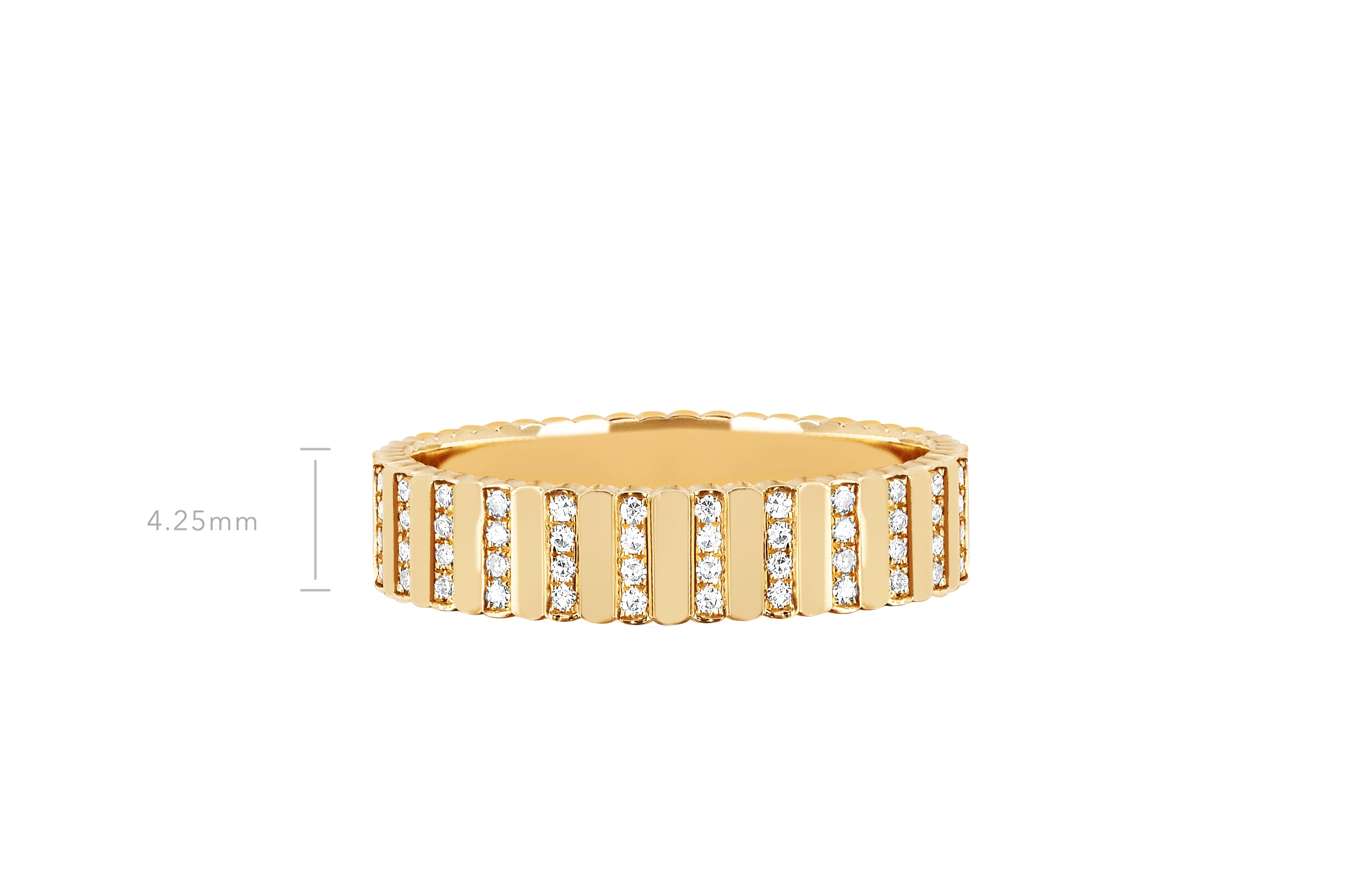 Gold & Diamond Multi Bar Ring