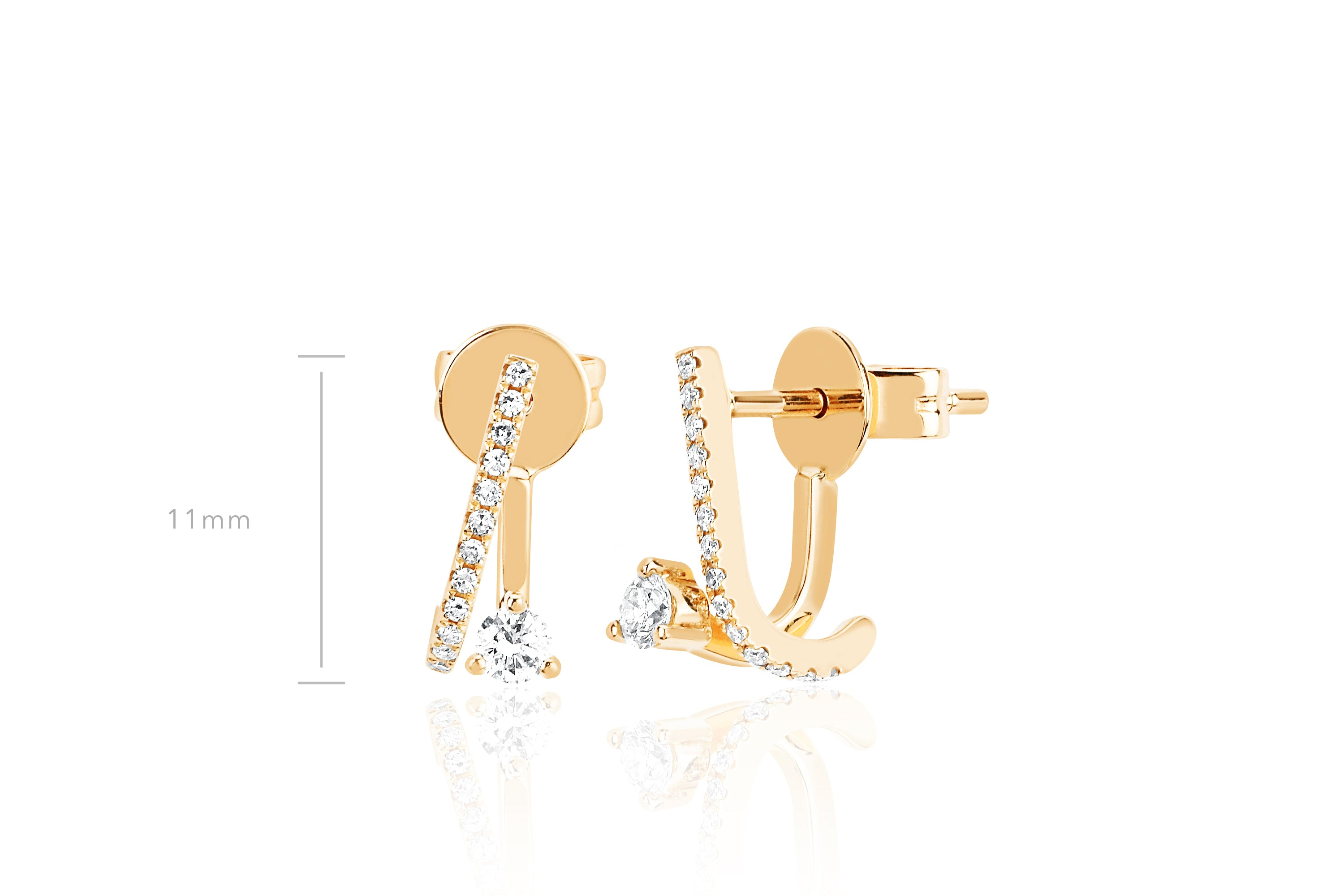 Prong Set Diamond Illusion Stud Earring