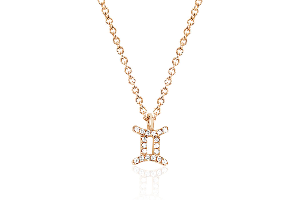 Diamond Gemini Necklace