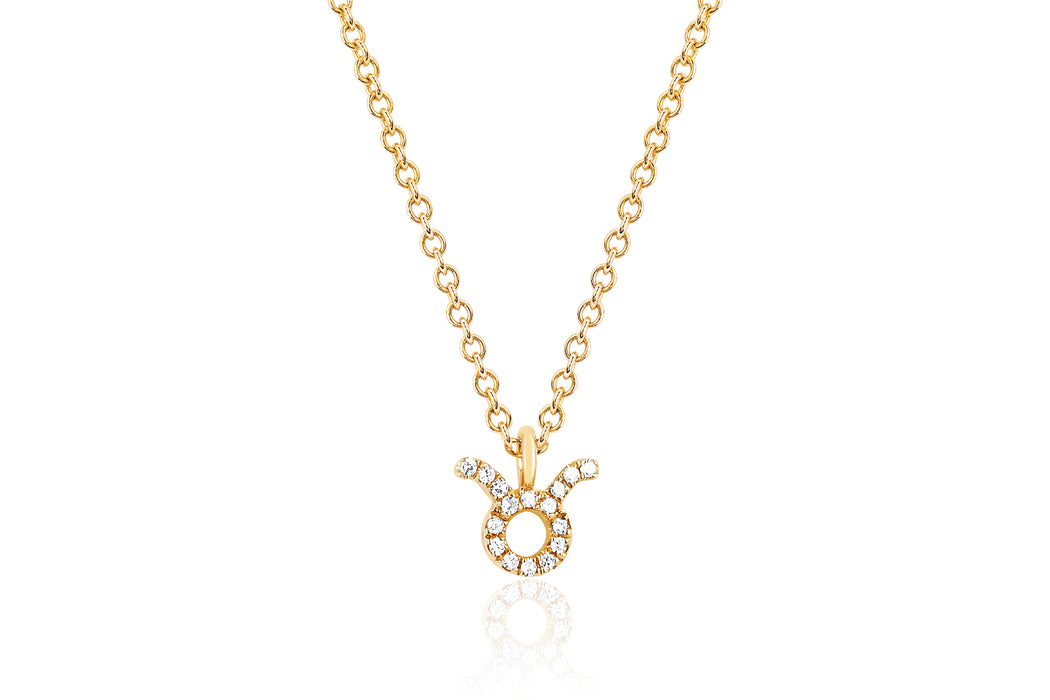 Diamond Taurus Necklace
