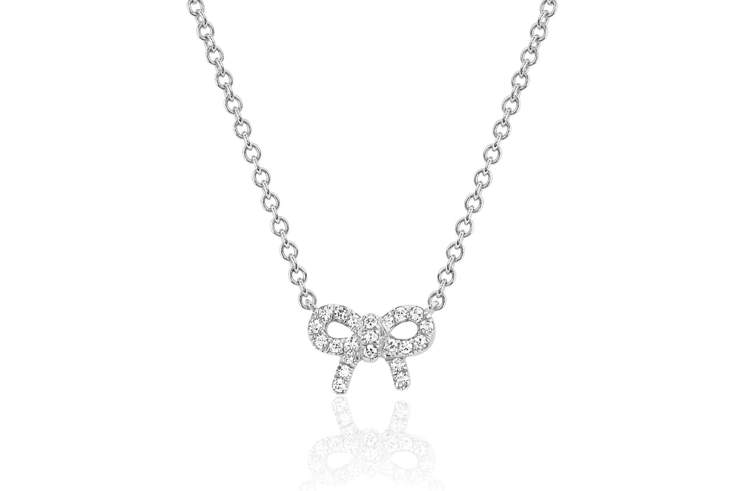 Diamond Mini Bow Necklace