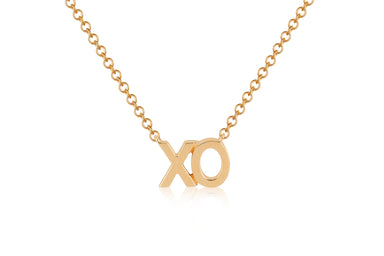 Gold XO Initial Necklace