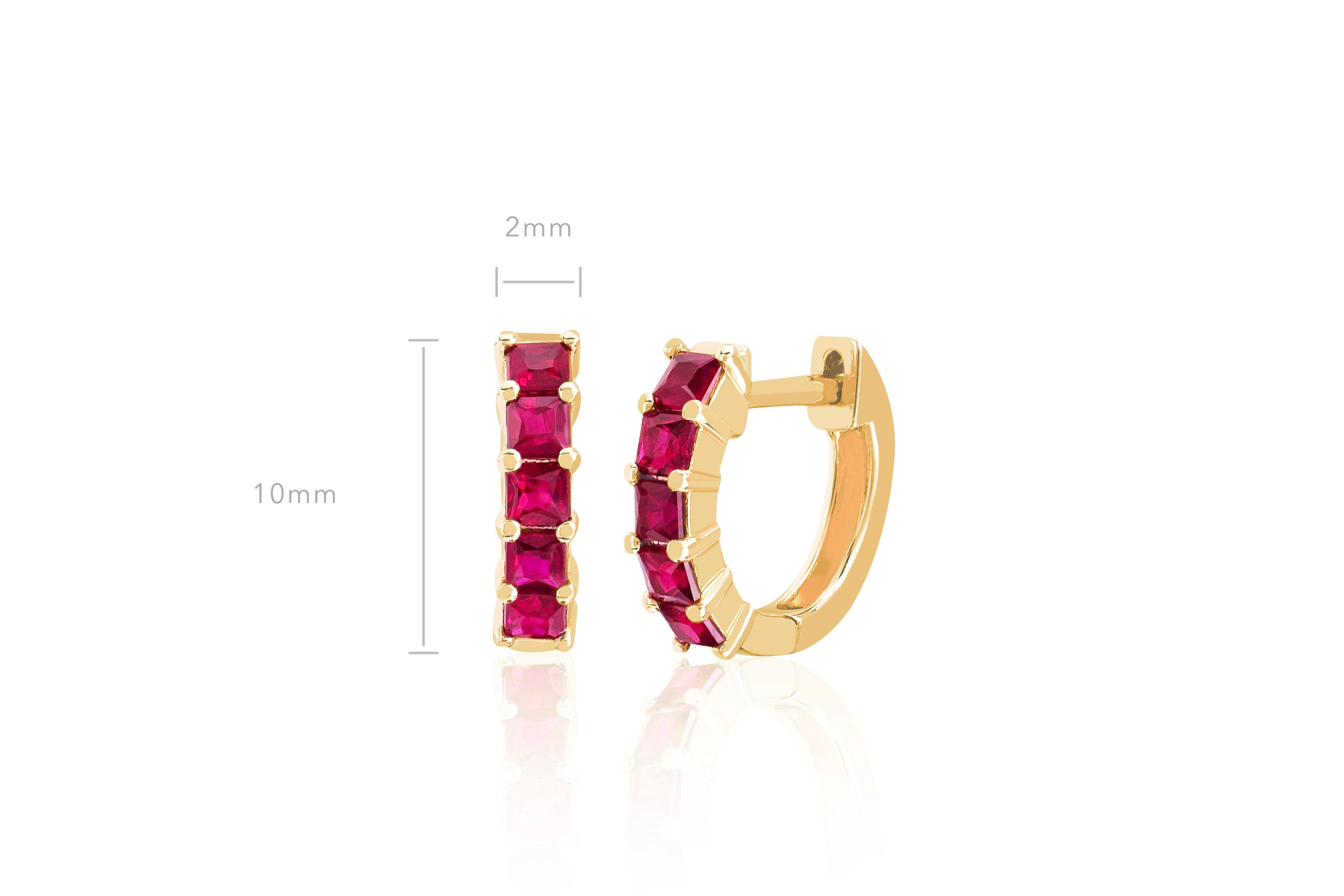 Ruby Princess Mini Huggie Earring