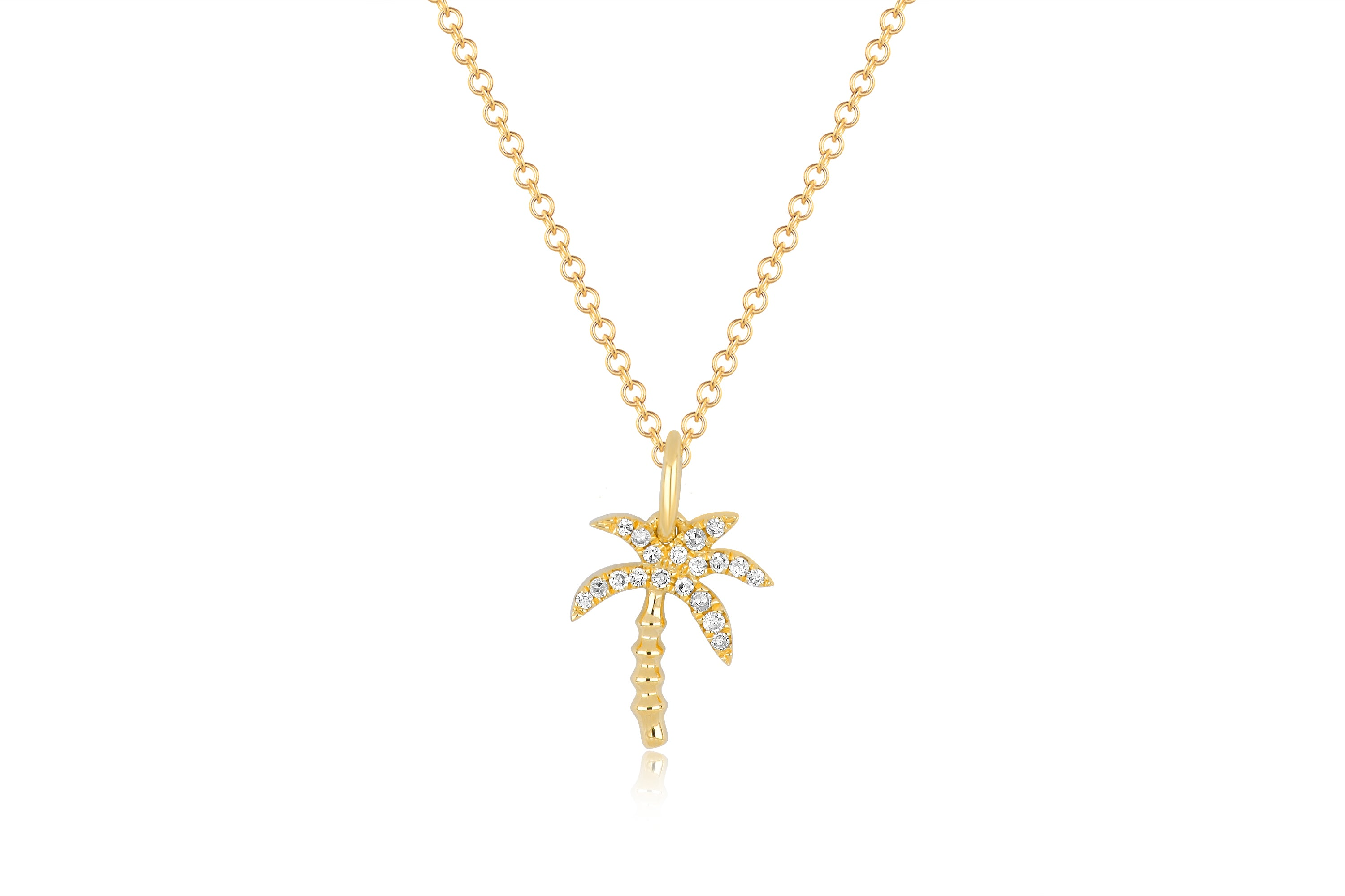 Diamond Wild Palm Necklace