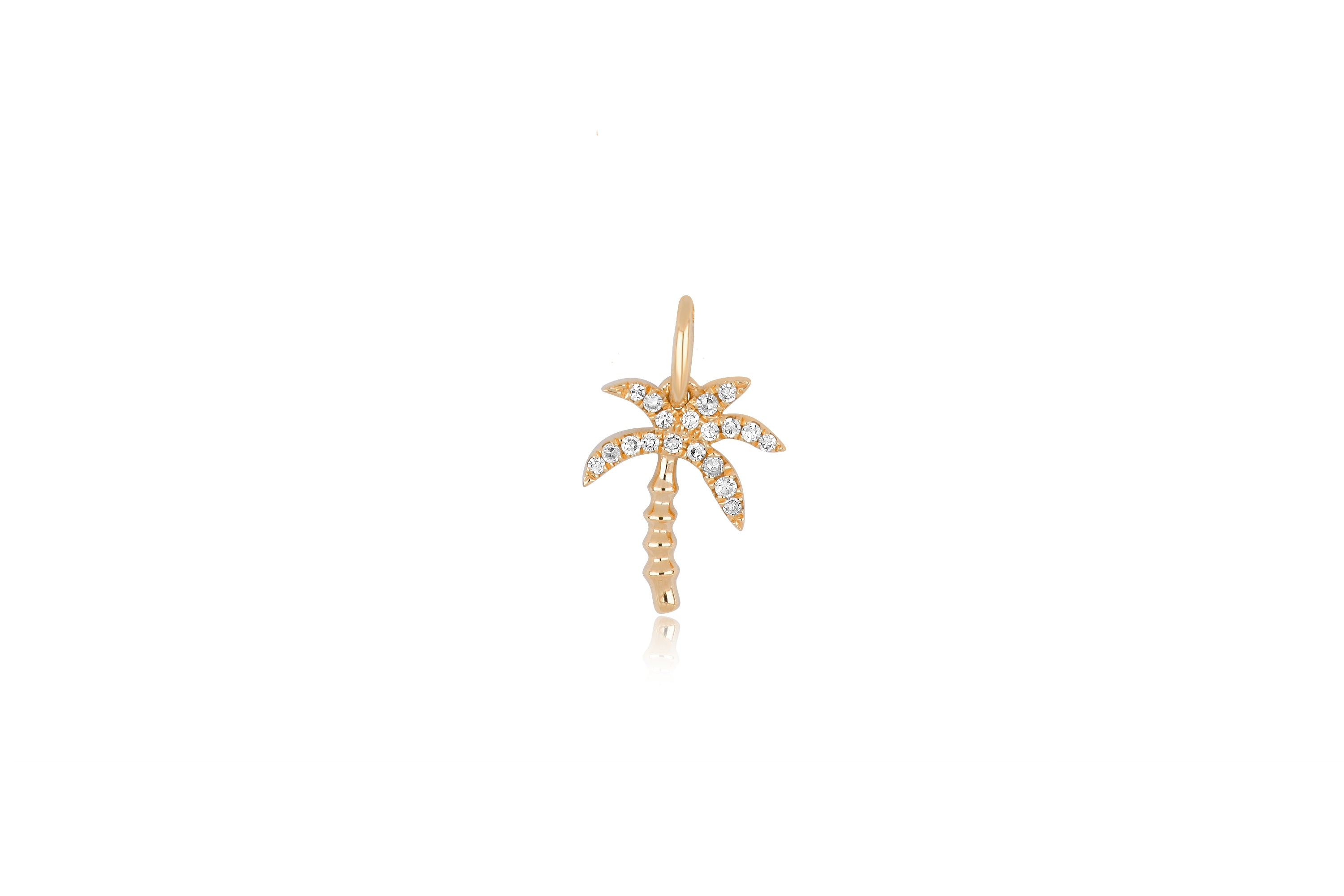 Diamond Wild Palm Necklace Charm