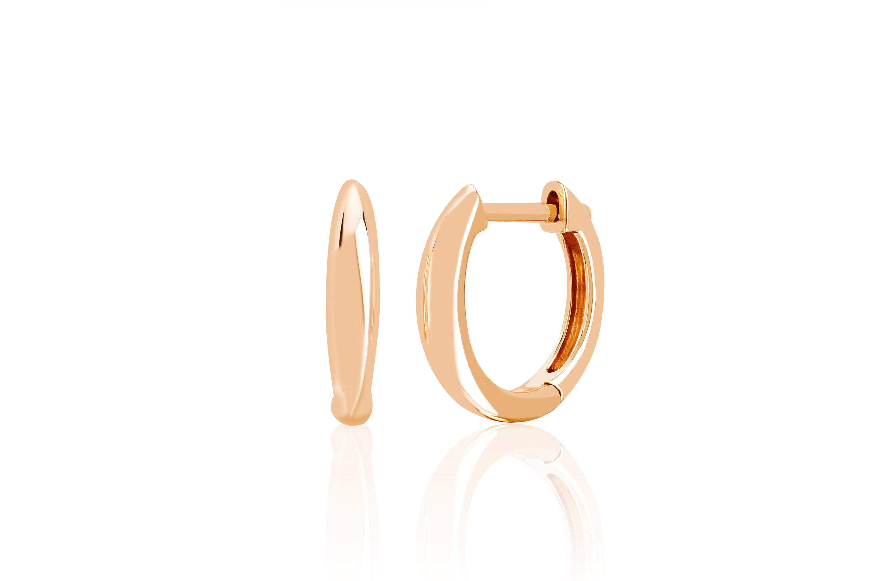Gold Dome Mini Huggie Earring