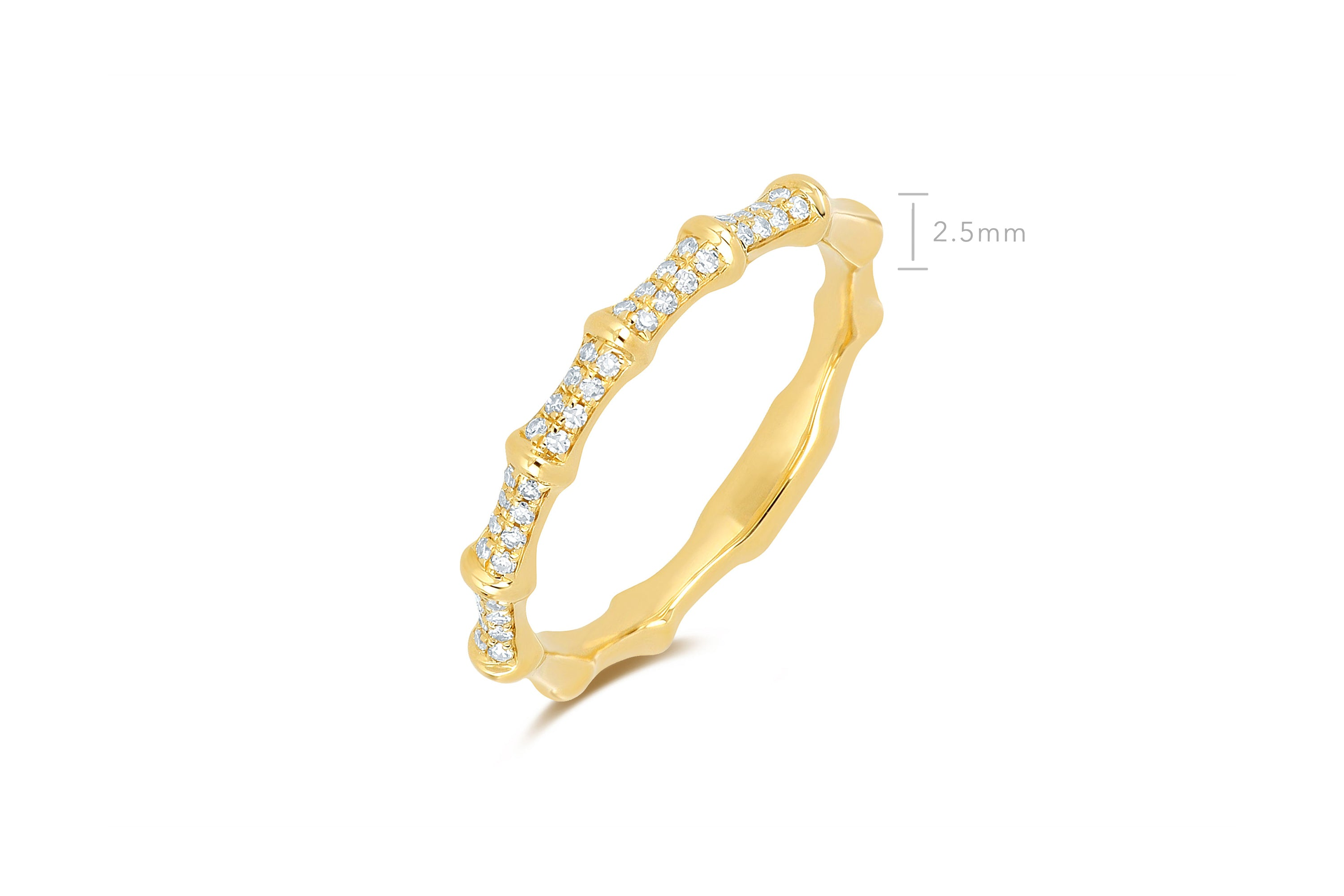 Diamond Impala Horn Ring