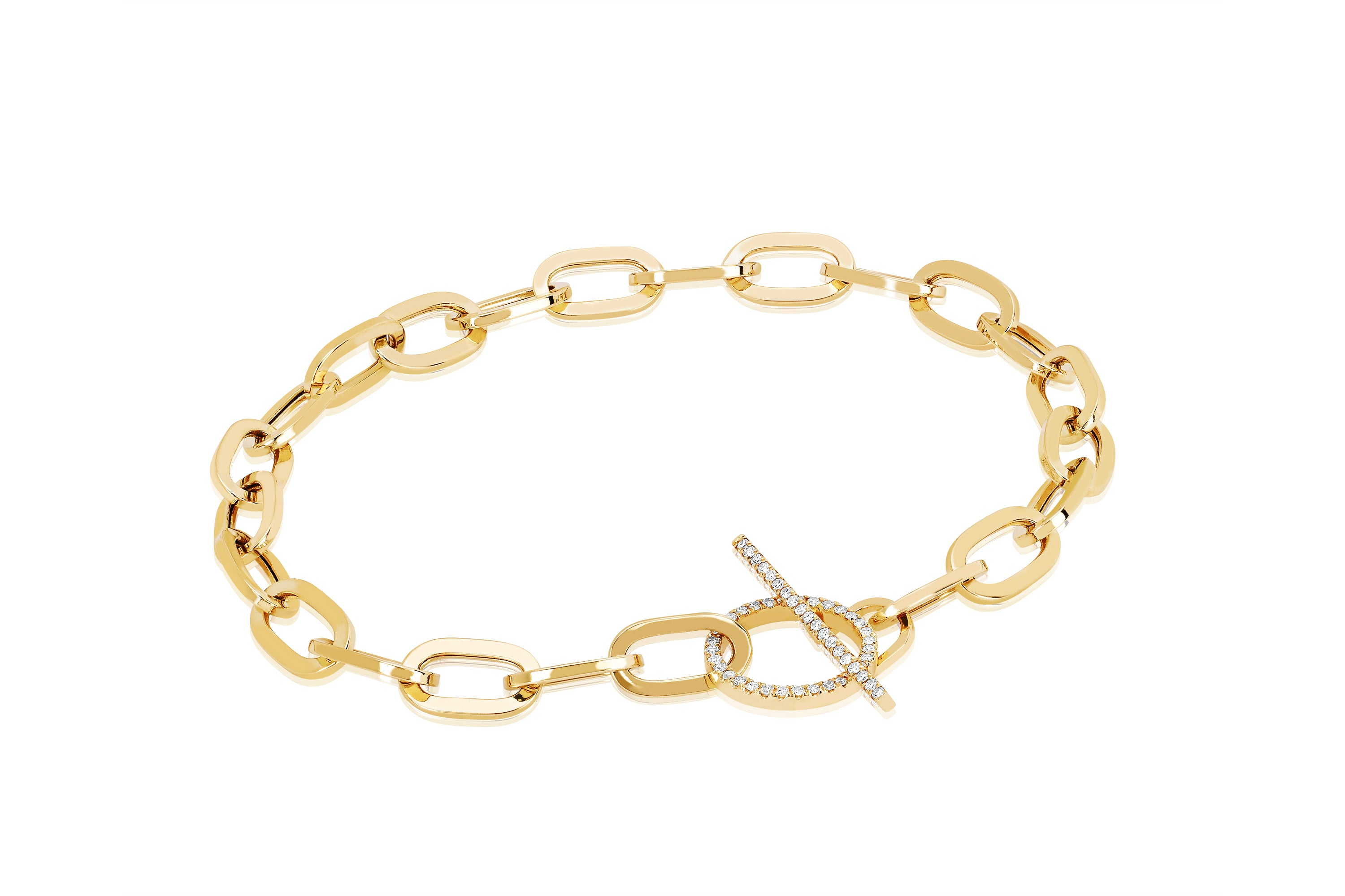 Jumbo Diamond Toggle Bracelet
