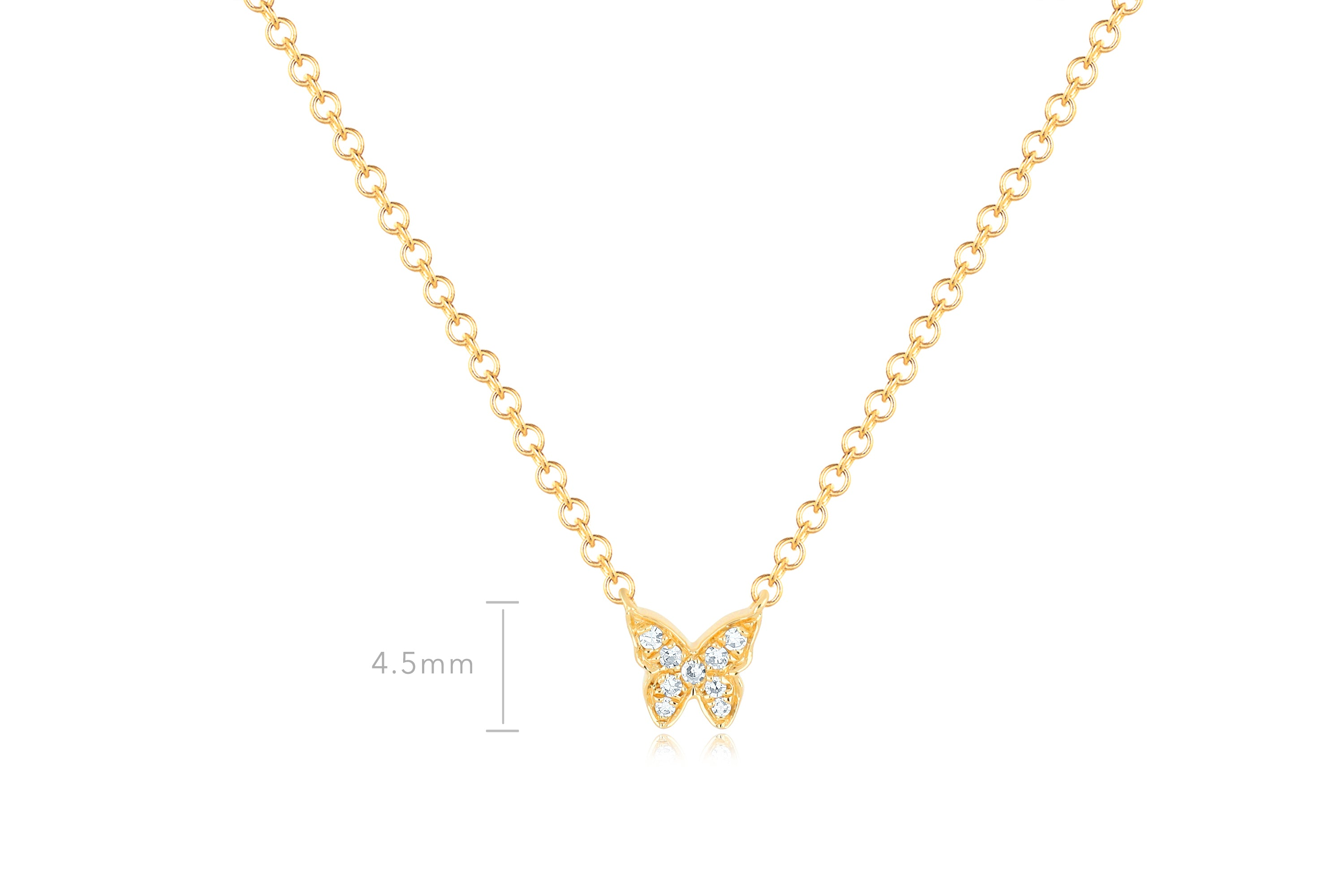 Baby Diamond Butterfly Necklace
