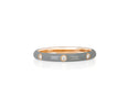 3 Diamond Light Grey Enamel Stack Ring