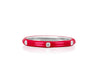 3 Diamond Red Enamel Stack Ring
