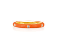 3 Diamond Orange Enamel Stack Ring