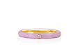 5 Diamond Light Pink Enamel Stack Ring